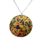 Colored leek necklace 30 mm DSC_0347